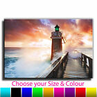 Lighthouse Sea Landscape Canvas Art Print Box Framed Picture 42