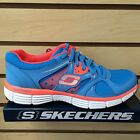 Skechers Women Sneakers Shoes 11694 Agility New Vision Blue Coral Color NEW