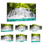 47 Shapes Canvas Picture Print Wall Art Landscape Waterfall Forest Stream 2511 E
