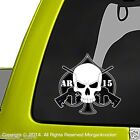 AR15 Skull Decal - 2 Pack - m4 m16 .223 5.56 nato Military rifle sticker DC1104