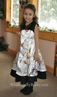 NEW Camo Wedding dress/childs flowergirl- SATIN CAMO