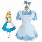 Cosplay Anime Maid Alice in Wonderland Costume Blue lolita Fairytale Fancy Dress