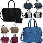 New Ladies Shoulder Tote Handbag Faux Leather Hobo Womens Cross Body Bags Purses
