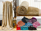 Large Faux Fur Mink Super Soft Cuddly Fleece Blanket Throw Assorted Colours