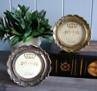 Vintage Chic Round Photo Frame Gold or Silver Shabby Ornate Chic 3 x 3 Gift