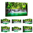 47 Shapes Canvas Picture Print Wall Art Landscape Waterfall Stream Forest 2502 E