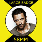 HUGH JACKMAN - LARGE 58mm BADGE #3