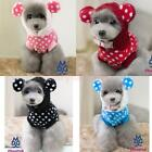 Pet Dog Cute Hoodie Dotted Jacket Coat Clothes Apparel Clothing Costume S M L