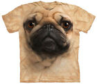Pug Face Adult  Animals Unisex T Shirt The Mountain