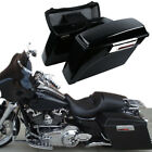Hard Saddle bags Trunk w Lid Latch Key For 94-13 Harley HD Touring Road King