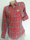 NEW WOMAN'S LADIES GIRLS RED100% COTTON CHECK 'ON TREND' SHIRT AS PER SUPERD*Y