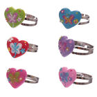 One Cute Butterfly Heart Adjustable Ring Girls Toys Gifts
