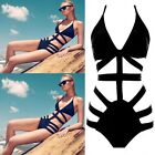 One Piece Sexy Strappy Swimsuit Swimwear Push Up Padded Bikini Bathing Monokini