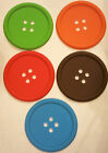 Button Coaster Colourful Silicone Cup Drinks Holder Mat Tableware Placemat Gift
