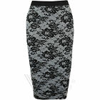 Ladies Womens Lace Graphic Print Swing Dress Vest Pencil Skirt Leggings Stretch