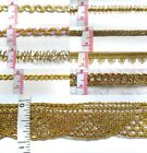 Metallic Gold Ribbon Trim Tape Christmas -Color Choice-3 Yards
