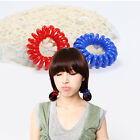Colorful Telephone Wire Hair Ties  Elastic Extendable Girls/Women  Rubber