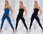 Sexy Women's Halter Neck Jumpsuit Overall Catsuit Trouser One Size Size 8,10,12