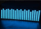 Car Auto Sticker Music Rhythm Lamp Flash Light Sound Activated Equalizer Blue