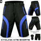 Mens MTB Cycling Shorts Bicycle Padded Liner Off Road Cycle Short All Sizes