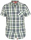 "D555 PURE COTTON SHORT SLEEVED CHECK SHIRT ""VERMOUTH"" IN SIZE 1XL TO 6XL"