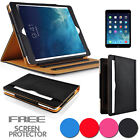 NEW TAN LEATHER FLIP STAND SMART CASE COVER FOR APPLE IPAD MINI 1 2 SLEEP WAKE