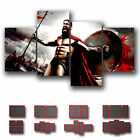 ' 300 Spartan ' Contemporary Modern Abstract Movie Canvas ~ 4 Panels