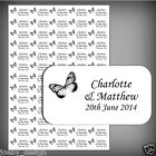 Personalised Wedding Invitation Butterfly Stickers, Labels, Envelope Seals