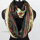 Stylish Women's Ancient Carriage Soft Infinity 2-Loop Cowl Eternity Casual Scarf