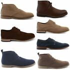 NEW MENS FAUX SUEDE FORMAL LACE UP BROGUE DESERT BOOTS SHOES UK SIZES 6-12
