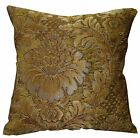 we58a Gold Tan Damask Flower Chenille Throw Pillow Case/Cushion Cover*Cus-Size