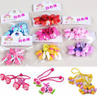 4 X Cute Girls Kids Toddler Children Hair Ponies Elastic Bobble Rope Accessories