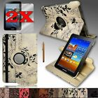 """For Samsung Galaxy Tab 2 7.0 or Tab 7.0 """"PLUS"""" Rotating PU Leather Case Stand"""