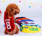 Dog Cat Shirt Tank Vest Clothes Apparel SPORT Football Soccer SMALL & LARGE Pet
