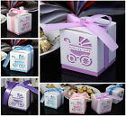 10 Pcs Laser Cut Carriage Gift Candy Bomboniere Boxes Wedding Favor Baby Shower