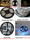 5M 300led Non/Waterproof IP65 3528/5050 Warm/White RGB Flexible Strip Light Tape