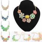 New European Bohemian Fresh Flower Beauty Necklace Choker Chunky Bib Statement