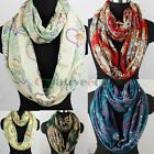 Fashion Women's Flower Dot Soft Infinity Loop Cowl Eternity Endless Casual Scarf