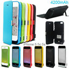4200mAh External Power Bank Charger Backup Battery Case Cover for iphone 5 5s 5c