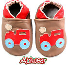 Red Train Baby Boy Soft Soles Chocolate Leather Shoe Pram Kids Toddler 0-18M