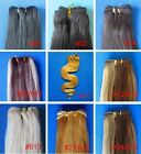 ONE SET OF REMY HUMAN HAIR WEFT EXTENSIONS 100grams black brown blonde au