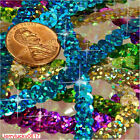 NEW DIY 5 yards 6mm Faceted loose sequins Paillettes sewing Wedding craft PICK U