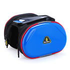 """Cycling Frame Bag Bike Bicycle Top Tube Double Bag with Cell Phone Pouch 4.3"""""""