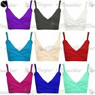 New Womens Ladies Strappy Thin Straps Cropped Wrap Over Bralet Boobtube Crop Top