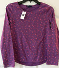 ~Gap Kids~ Girl's Purple with Pink Stars L/Sleeve Shirt ~Size L 10 ~NWT