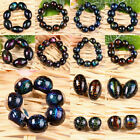 Wholesale Dichroic Lampwork Glass Ball Rice Loose Spacer Beads Jewelry Findings