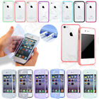 CRYSTAL SLIM FLIP GEL SILICONE SOFT CASE COVER FOR IPHONE 4 4S +SCREEN PROTECTOR
