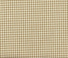 French Country Gingham Check Linen Beige Medium Tootsie Roll