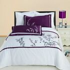 Luxury Spring Valley  Embroidered 3pc Bedding Duvet Cover Egyptian Cotton Set