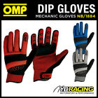 SALE! NB/1884 OMP RACING PIT CREW 'DIP' MECHANIC SHORT TECHNICAL WORK GLOVES OMP